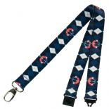 Washington Wizards Lanyard, Team Colour Argyle Style Pattern